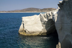 Volcanic rocks of Sarakiniko royalty free stock photography