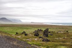 Volcanic rocks at Snaefellsnes, Iceland Royalty Free Stock Photos