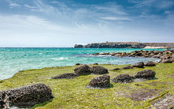 Volcanic rocks of Tarifa. Royalty Free Stock Image