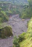 Volcanic Sand Mining, Yogyakarta, Indonesia Stock Images