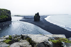 Volcanic sand on the south coast of Iceland. Black volcanic sand on the south coast of Iceland Royalty Free Stock Photos