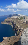 The volcanic Santorini island in Greece Royalty Free Stock Photography