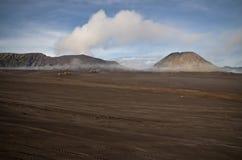 Volcanic sea of sand. Pasir Berbisik near Gunung Bromo Stock Photo