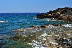 Volcanic seashore Royalty Free Stock Image