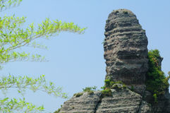 Volcanic sedimentary rock  Royalty Free Stock Photo