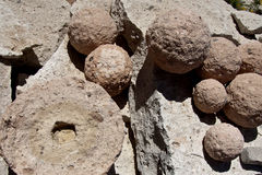 Volcanic Spheres, Sillar Quarry. Volcanic spheres found at the sillar stone quarry near Arequipa, Peru royalty free stock photos