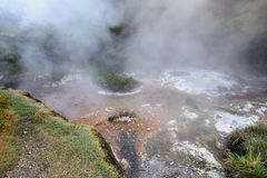 Volcanic steam Royalty Free Stock Images