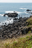 Volcanic Stone Bay at Seopjikoji. Jeju, South Korea. Volcanic Stone Bay. Seopjikoji is located at the end of the eastern shore of Jeju Island. Seopji is the old Royalty Free Stock Photo