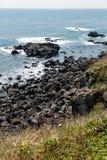Volcanic Stone Bay at Seopjikoji. Jeju, South Korea Royalty Free Stock Photo