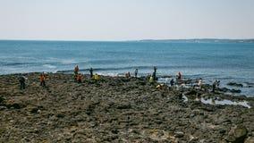 Volcanic Stone Bay at Seopjikoji. Jeju, South Korea Royalty Free Stock Image