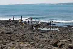 Volcanic Stone Bay at Seopjikoji. Jeju, South Korea Royalty Free Stock Photography