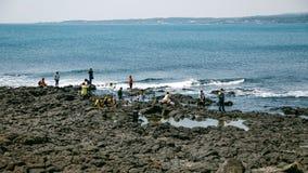 Volcanic Stone Bay at Seopjikoji. Jeju, South Korea Stock Photo