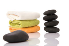 Volcanic stone massage Royalty Free Stock Images