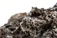 Volcanic stone. Stone off from actual volcano, exploded in Iceland Stock Photos