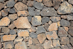 Volcanic stone wall Royalty Free Stock Images