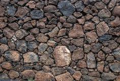 Volcanic Stone wall Stock Photo