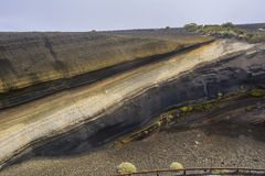 Volcanic strata in Tenerife, Canary Islands Royalty Free Stock Photo