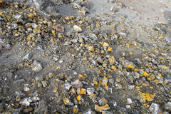 Volcanic sulfur soil and rocks Stock Photography