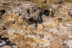 Volcanic sulpher deposits Stock Images