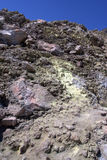 Volcanic sulphur deposits Stock Photography