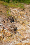 Volcanic sulphur deposits Stock Photo