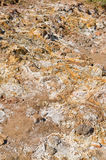 Volcanic sulphur deposits Royalty Free Stock Images
