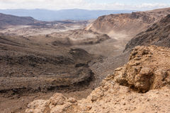 Volcanic terrain in Tongariro National Park. In New Zealand Royalty Free Stock Image