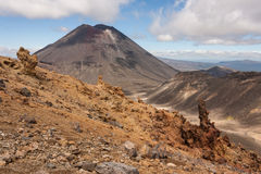 Volcanic valley in Tongariro National Park Royalty Free Stock Photos