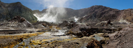 Volcanic Wasteland Panorama Royalty Free Stock Photos