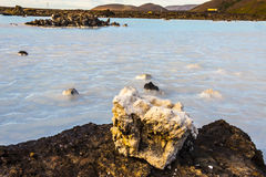 Volcanic water - Blue Lagoon, Iceland Royalty Free Stock Photo
