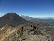Volcanic Wilderness. On top of Mount Tongariro, with Mount Nguar Royalty Free Stock Image