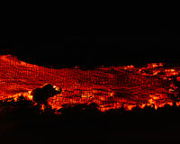 Volcanic wildfire Stock Photos