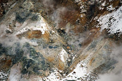 Volcaninc gas and steam on Mount Fuji, Japan Stock Image