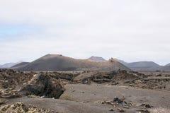 Volcanis landskap av timanfayanationalparken lanzarote Arkivbilder