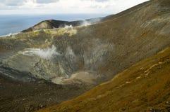 Volcano. Vulcano, the Aeolian island in the tyrrhenian sea north of Sicily Royalty Free Stock Images