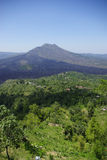 Volcano. A view of the Volcano Gunung Batur on the island of Bali royalty free stock image