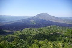 Volcano. It's a view of volcano Gunung Batur in Bali stock photography