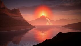 volcano-1728164 Royalty Free Stock Images