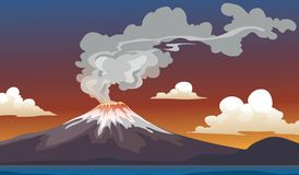 Volcano Royalty Free Stock Image