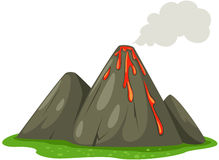 Volcano. Illustration of isolated volcano on white background Stock Image