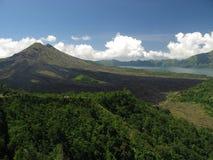 Volcano. Mt.Agung - active volcano in Bali (Indonesia Stock Photo