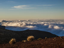 Volcano (above the clouds) Royalty Free Stock Photos
