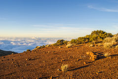 Volcano (above the clouds) Royalty Free Stock Photo