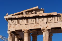 Volcano. Acropolis in Greece shows a great history of them Stock Photos