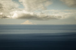 Volcano across the Cook Inlet Stock Photos