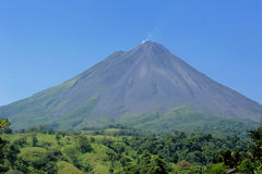 Costa Rica Volcano. Active volcano smoking and clouds  in Costa Rica South America Royalty Free Stock Image