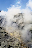 Volcano in Aeolian Islands Stock Images