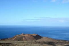 Volcano Aerial View Fotos de archivo libres de regalías