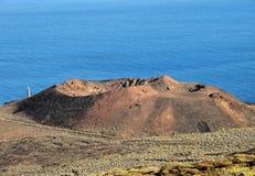 Volcano Aerial View lizenzfreie stockfotografie
