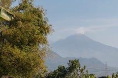 Volcano Agung. Mount Agung active volcano mountain in Bali Stock Photo